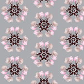 Floral Flake Swatch Light Grey
