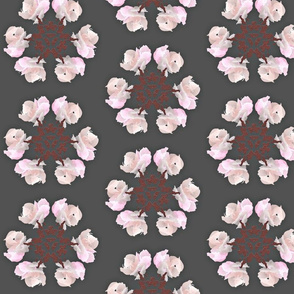Floral Flake Swatch Dark Grey