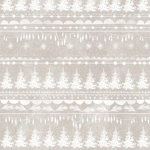 Vintage Christmas Stripe (taupe)