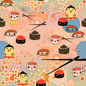 kawaii sushi for sumo wrestlers