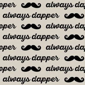 always dapper - black on beige