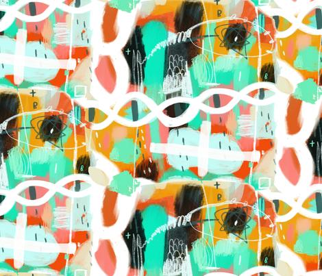 Niji Be Positive fabric by zoe_ingram on Spoonflower - custom fabric