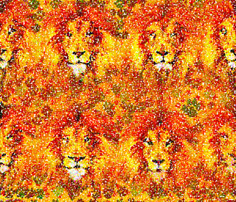 Paw-tillism  fabric by arwen_and_moose on Spoonflower - custom fabric