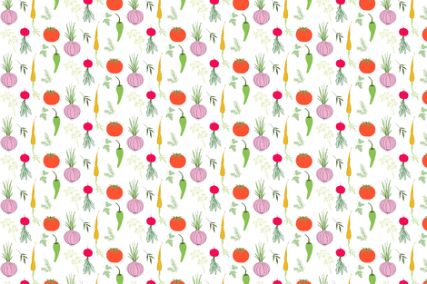 Veges and Herbs fabric by trisha_galyen on Spoonflower - custom fabric