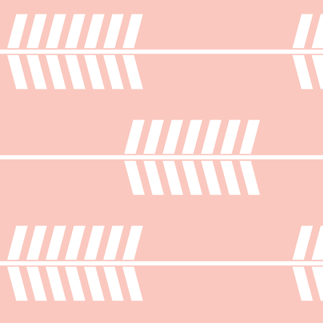 pink arrows (90) || the willow woods collection fabric by littlearrowdesign on Spoonflower - custom fabric
