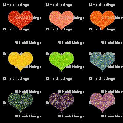 Pointillized Rainbow Hearts