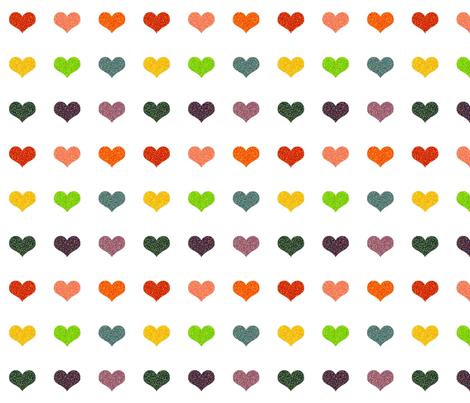 Pointillized Rainbow Hearts fabric by shortcake_studio on Spoonflower - custom fabric