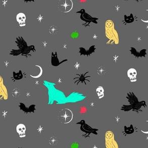 Spooky in gray