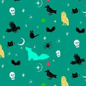 Spooky in Teal