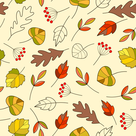 leaves_pat1_EXP fabric by maddyz on Spoonflower - custom fabric