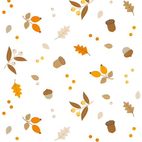 botanical fall  fabric by heleenvanbuul on Spoonflower - custom fabric