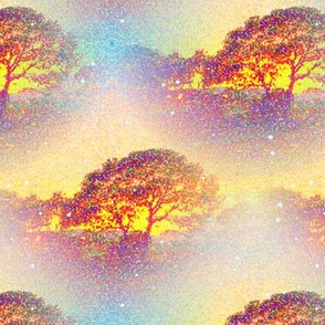 pointillist_sunset_tree_cloud_by_paysmage