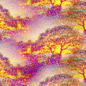 pointillist_sunset_tree_by_paysmage