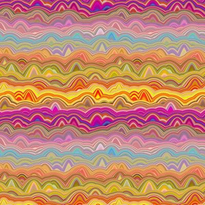 FUNKY WAVY AGATE STRIPES SPICED JUNGLE SUNSET