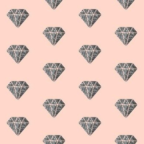 Diamonds on Pink Blush are a girls best friend!