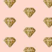 Gold Diamonds on blush