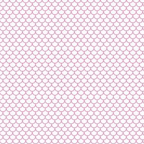Fishscales mini - white with medium pink