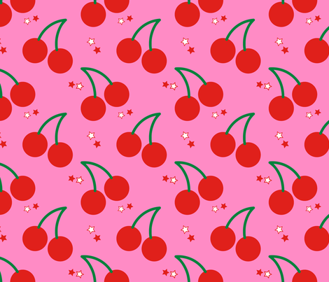 Cherry Bomb fabric by circa78designs on Spoonflower - custom fabric