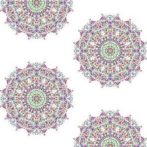 Dotty Decorative Stars on White