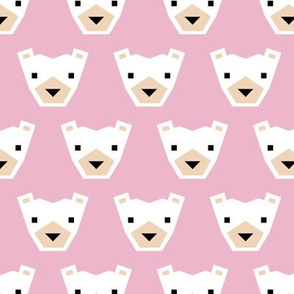 Geometric winter polar bears sweet Scandinavian animals gender neutral pink