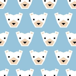 Geometric winter polar bears sweet Scandinavian animals blue