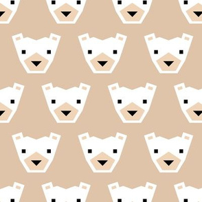 Geometric winter polar bears sweet Scandinavian animals gender neutral beige