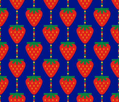 Pop Strawberries fabric by circa78designs on Spoonflower - custom fabric