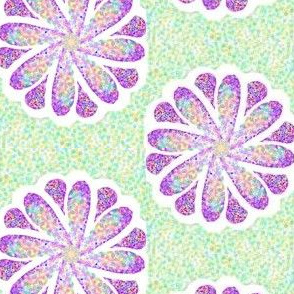 Pointillism Petals in a Spin