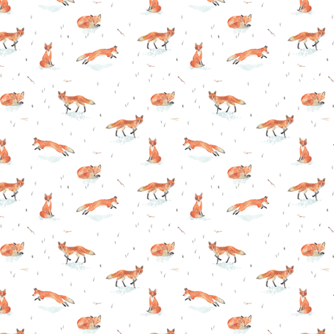 Winter Fox (Tiny) fabric by shelbyallison on Spoonflower - custom fabric