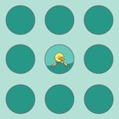 Teal Polka-Duck