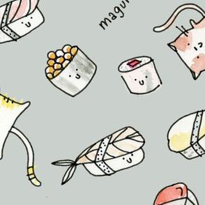 Cats + Sushi - © Lucinda Wei