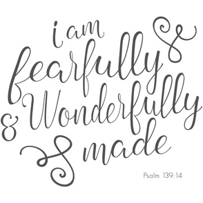 I am fearfully and wonderfully made - minky layout