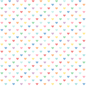 pastel rainbow hearts