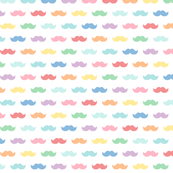 pastel rainbow moustaches