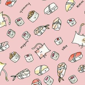 Cats + Sushi in Pink - © Lucinda Wei