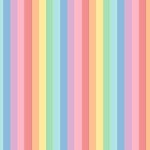 pastel rainbow fun stripes no2 vertical