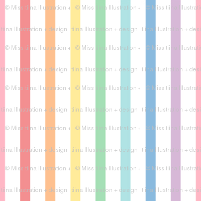 pastel rainbow stripes 1 vertical