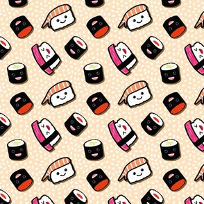 Kawaii Sushi in Peach