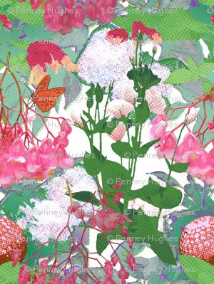 Pointillisms in the Pink Garden
