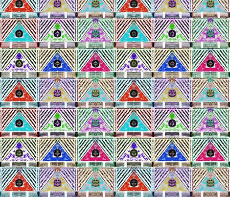fijian tapa C17 fabric by hypersphere on Spoonflower - custom fabric