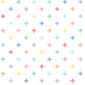 pastel rainbow crosses XL