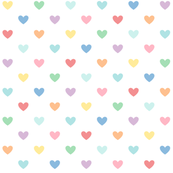 pastel rainbow hearts XL