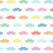 pastel rainbow moustaches XL
