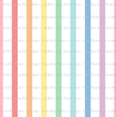 pastel rainbow stripes 1 vertical XL