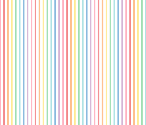 pastel rainbow stripes 1 vertical XL fabric by misstiina on Spoonflower - custom fabric