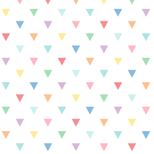 pastel rainbow triangles XL