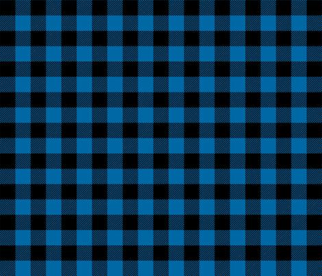 buffalo plaid 1in royal blue fabric by misstiina on Spoonflower - custom fabric