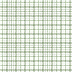 Gingham Forest Green