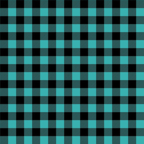 buffalo plaid 1in teal blue