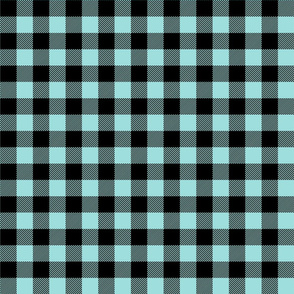 buffalo plaid 1in light teal blue